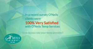 Customer Satisfaction at O'Neils Personnel